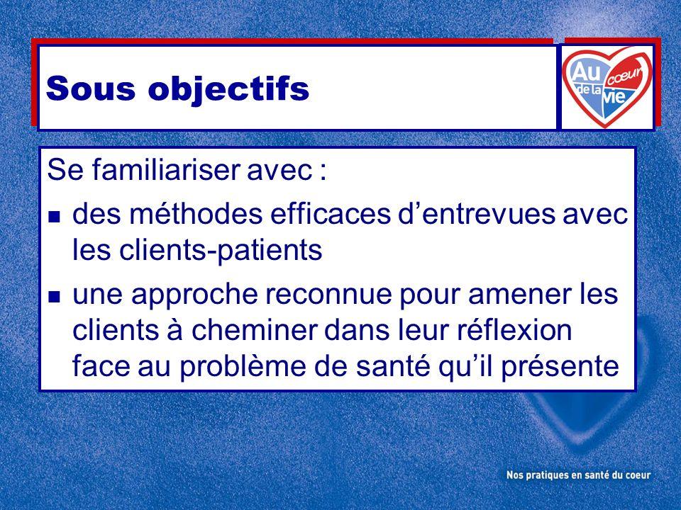 Plan de la rencontre n Patients-clients ciblés : Qui sont-ils .