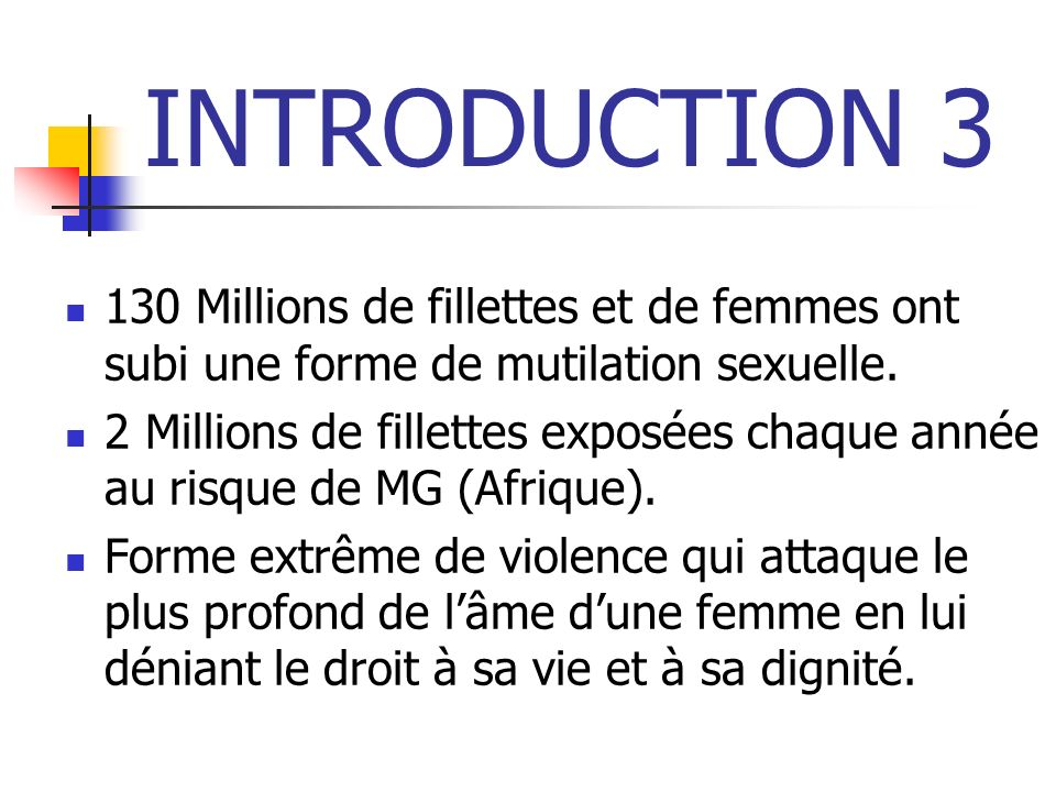 INTRODUCTION 4 90% de femmes guinéennes, excisées.