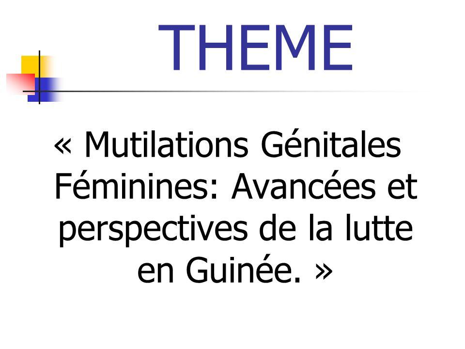 OBJECTIFS Faire une mise au point sur les MGF.Situer la place des MGF en Guinée.