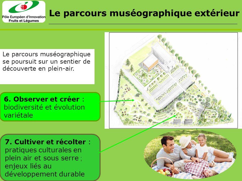Le parcours muséographique extérieur Le parcours muséographique se poursuit sur un sentier de découverte en plein-air. 7. Cultiver et récolter : prati