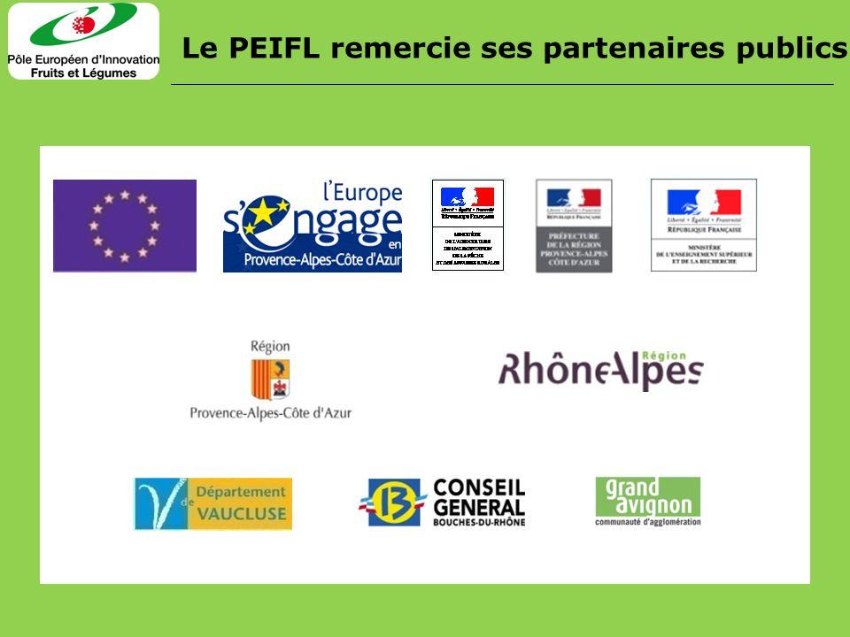 Le PEIFL remercie ses partenaires publics
