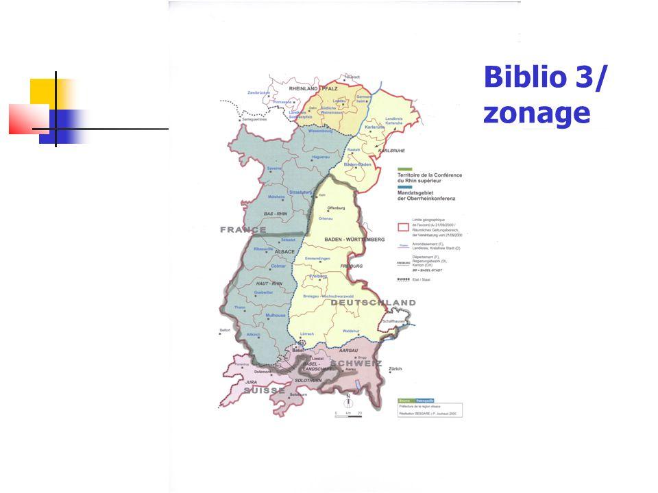 Biblio 3/ zonage
