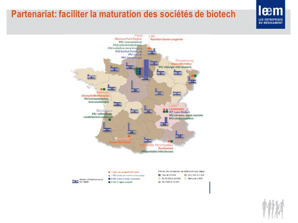 4 Partenariat: faciliter la maturation des sociétés de biotech