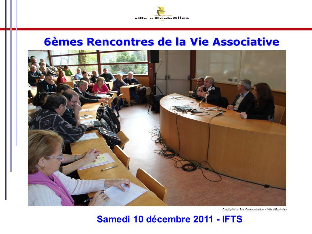 3 10/12/2011 6èmes rencontres de la Vie Associative La Vie Associative Le patrimoine associatif L activité festive associative Le paysage associatif Les Outils d accompagnement