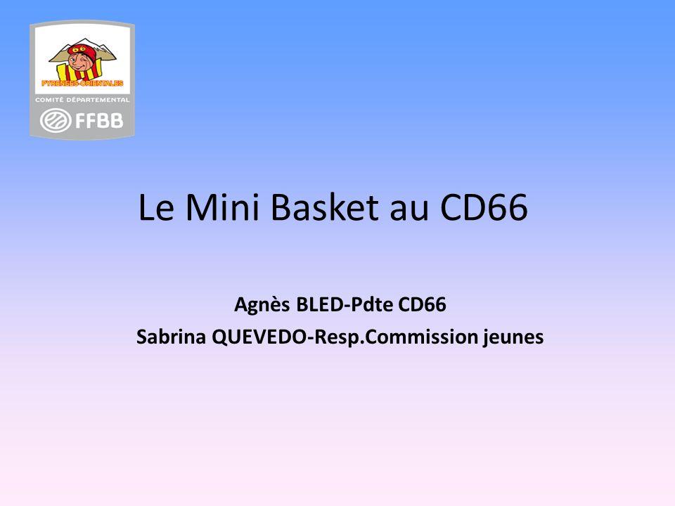Le Mini Basket au CD66 Agnès BLED-Pdte CD66 Sabrina QUEVEDO-Resp.Commission jeunes