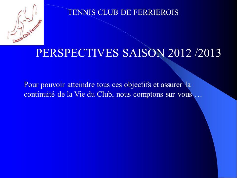 TENNIS CLUB DE FERRIEROIS SITE WEB : www.tcf85.e-monsite.com