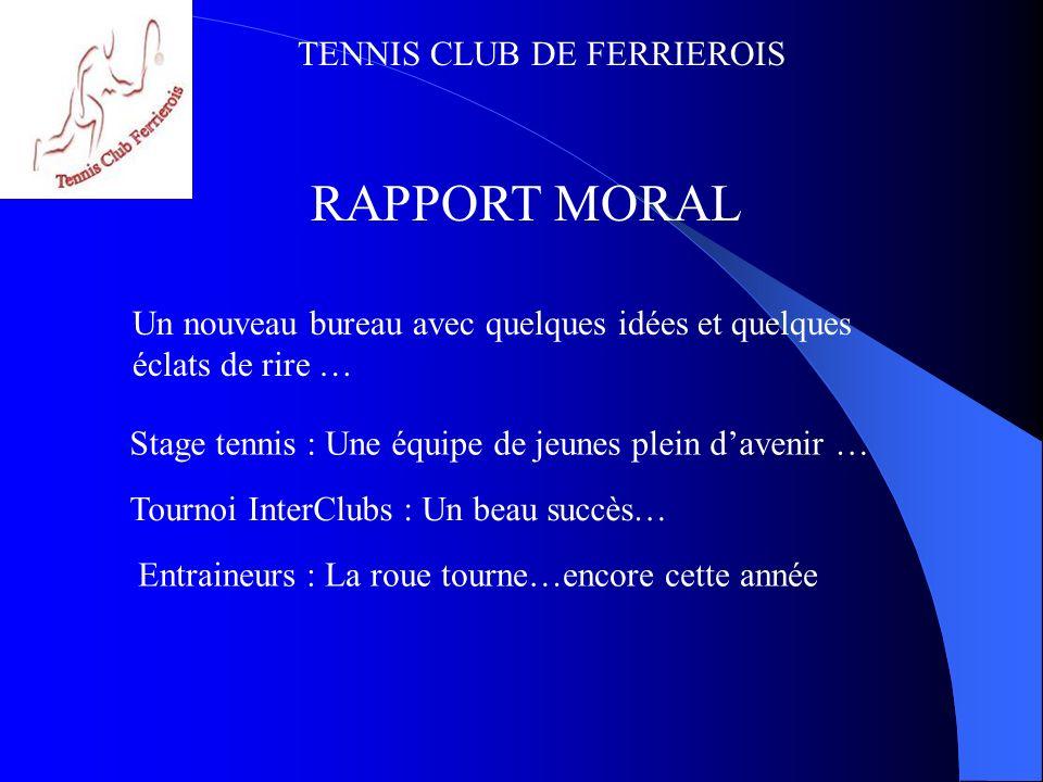 TENNIS CLUB DE FERRIEROIS Stage Jeunes