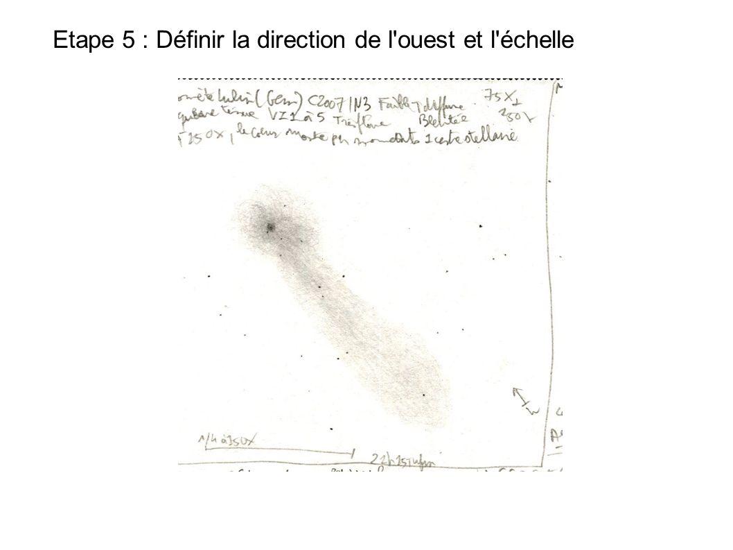 Etape 5 : Définir la direction de l'ouest et l'échelle