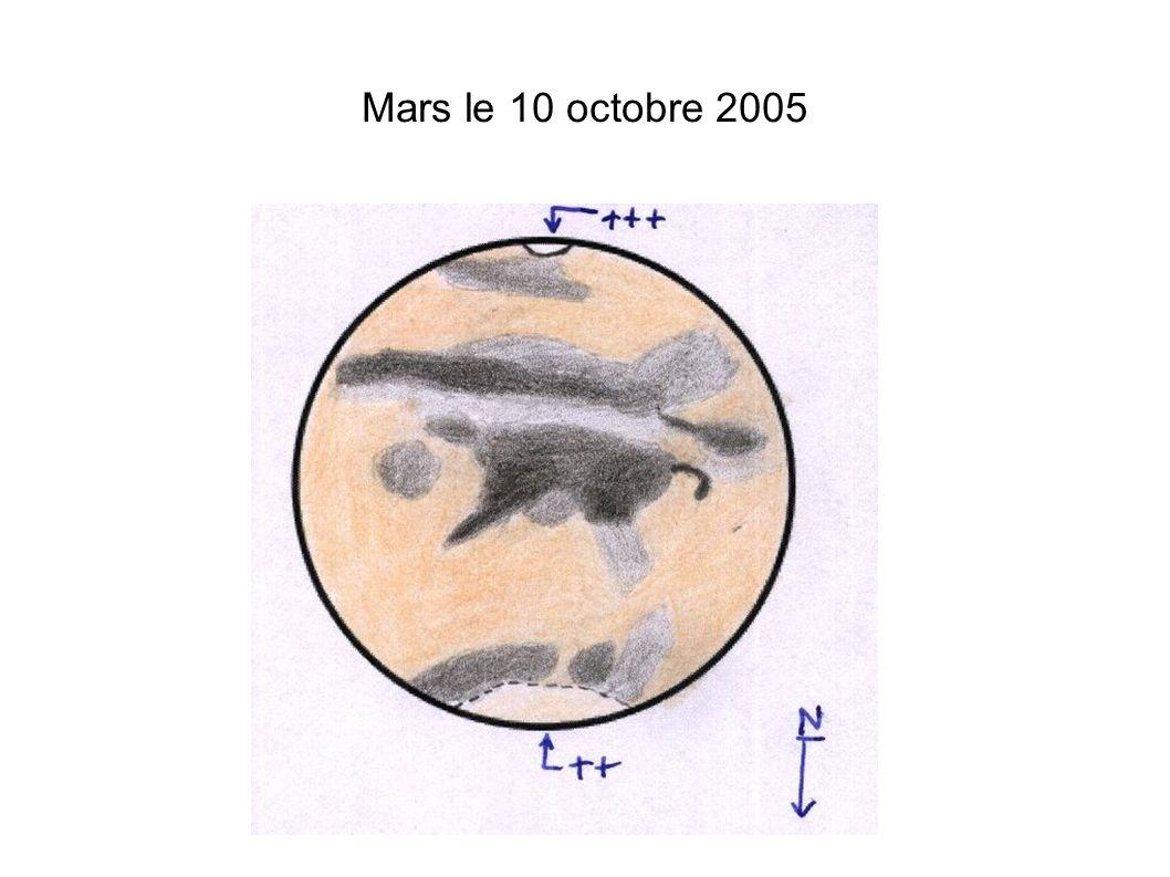 Mars le 10 octobre 2005