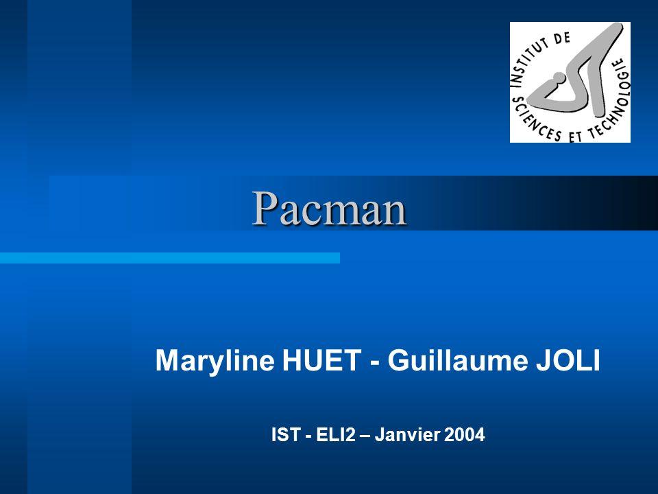 Pacman Maryline HUET - Guillaume JOLI IST - ELI2 – Janvier 2004
