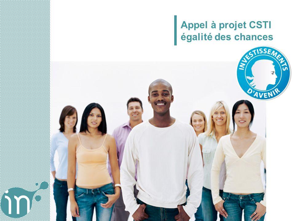 Appel à projet CSTI égalité des chances