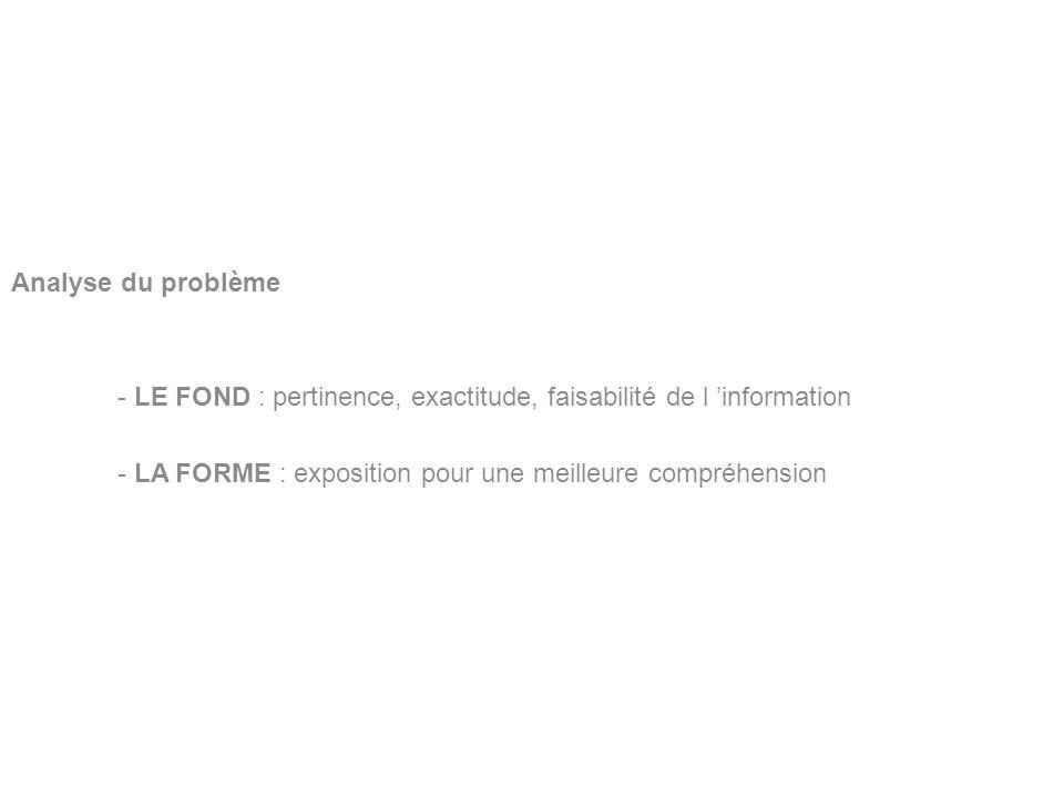 BERNARDIN Benoît Lycée Louis Pergaud Analyse du problème - LE FOND : pertinence, exactitude, faisabilité de l information - LA FORME : exposition pour
