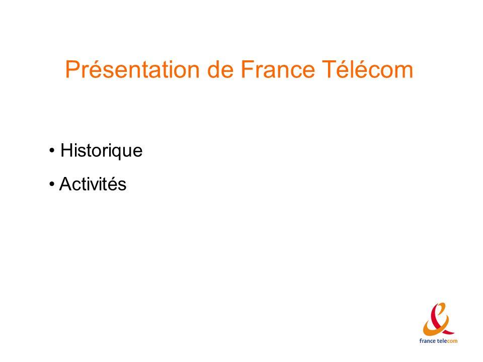 Présentation de France Télécom Historique Activités