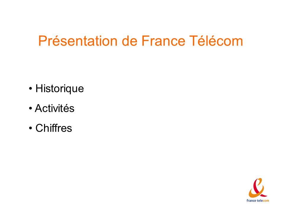 Présentation de France Télécom Historique Activités Chiffres