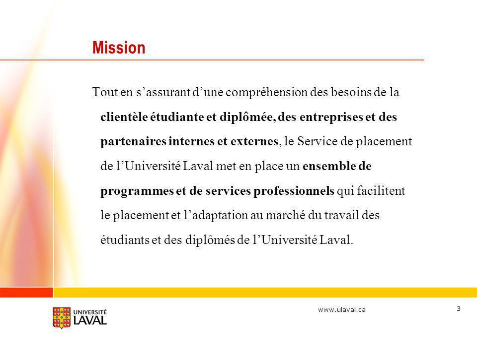 www.ulaval.ca 3 Tout en sassurant dune compréhension des besoins de la clientèle étudiante et diplômée, des entreprises et des partenaires internes et