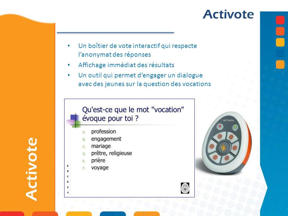 Activote Un boîtier de vote interactif qui respecte lanonymat des réponses Affichage immédiat des résultats Un outil qui permet dengager un dialogue a