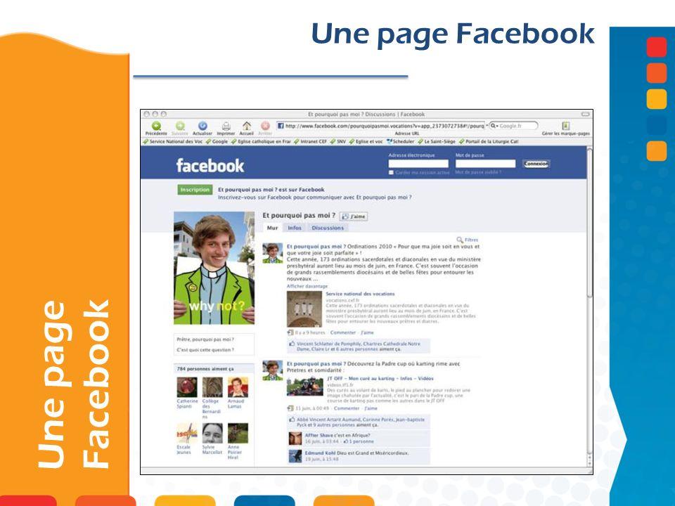 Une page Facebook
