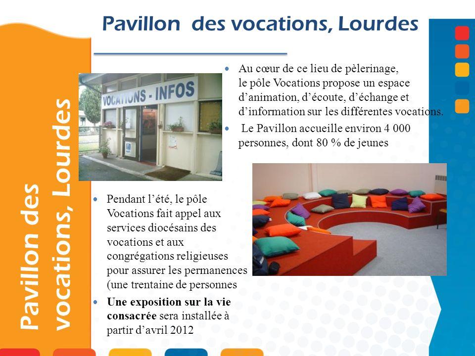 Pavillon des vocations, Lourdes Au cœur de ce lieu de pèlerinage, le pôle Vocations propose un espace danimation, découte, déchange et dinformation su