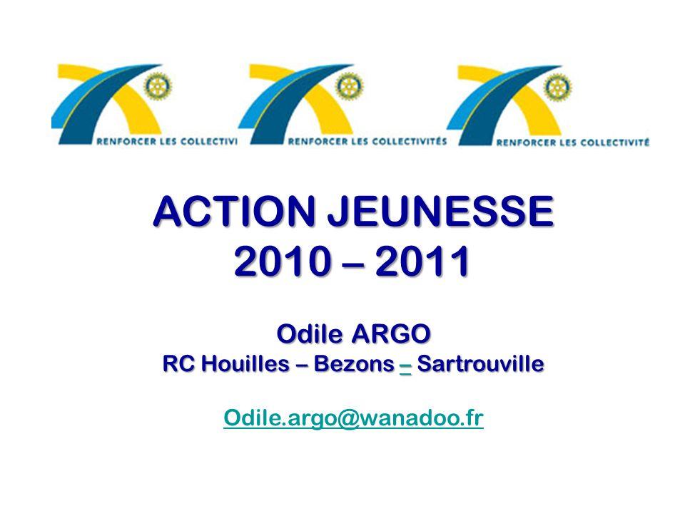 ACTION JEUNESSE 2010 – 2011 Odile ARGO RC Houilles – Bezons – Sartrouville – Odile.argo@wanadoo.fr