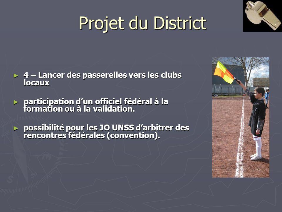 Projet du District 4 – Lancer des passerelles vers les clubs locaux 4 – Lancer des passerelles vers les clubs locaux participation dun officiel fédéra