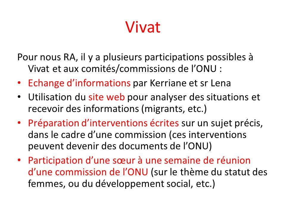 Le site Web/la pagina web/el website Les rubriques – Information – Formation – Action – Célébration