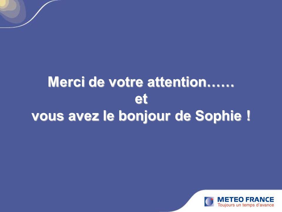 Merci de votre attention…… et vous avez le bonjour de Sophie !