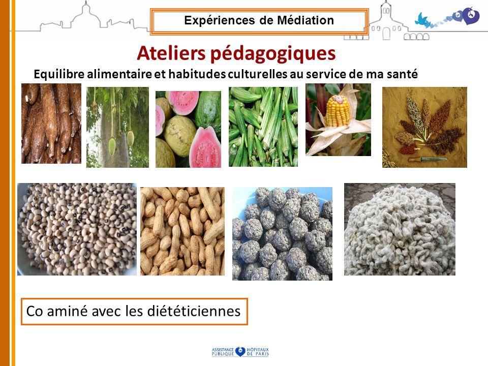 Ateliers pédagogiques Equilibre alimentaire et habitudes culturelles au service de ma santé Co aminé avec les diététiciennes Expériences de Médiation