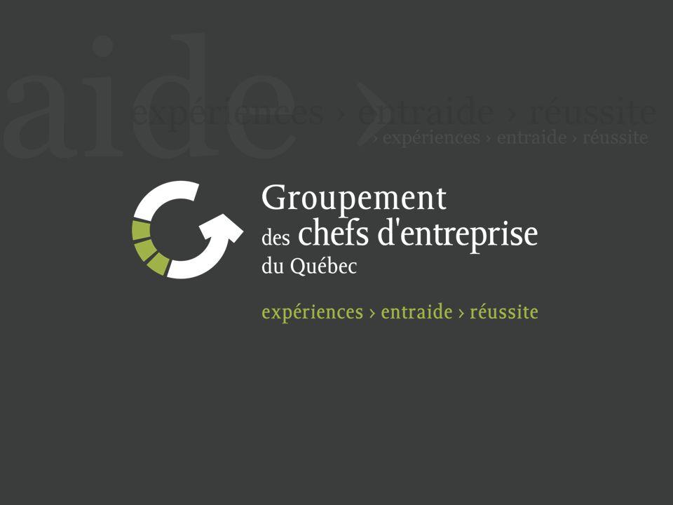 WWW.GROUPEMENT.CA Le Réseau Grand Club Congrès Rassemblement de deux jours sur un thème touchant la responsabilité de leadership et déquilibre du chef dentreprise.