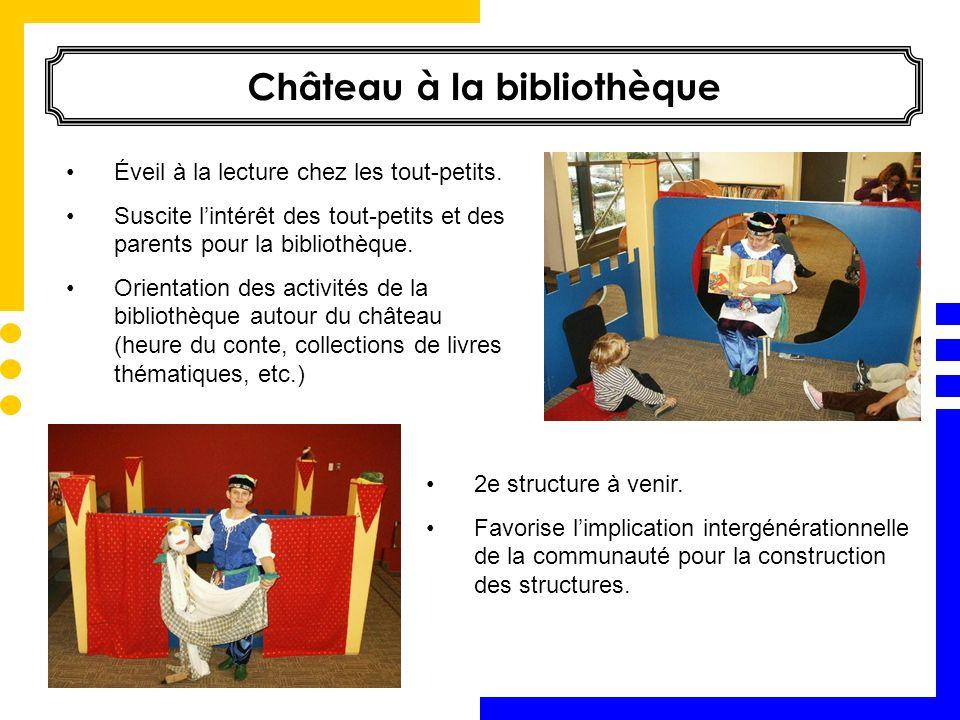 Éveil à la lecture chez les tout-petits. Suscite lintérêt des tout-petits et des parents pour la bibliothèque. Orientation des activités de la bibliot