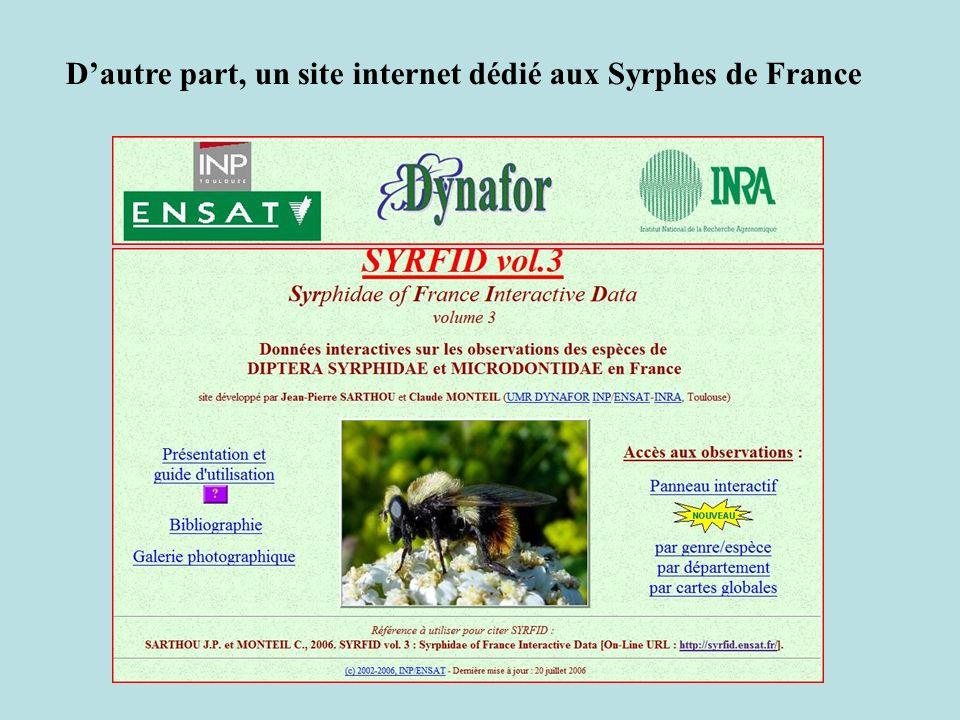 Dautre part, un site internet dédié aux Syrphes de France