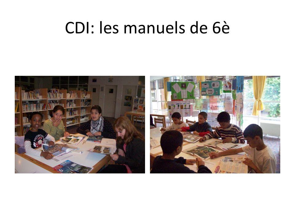 CDI: les manuels de 6è