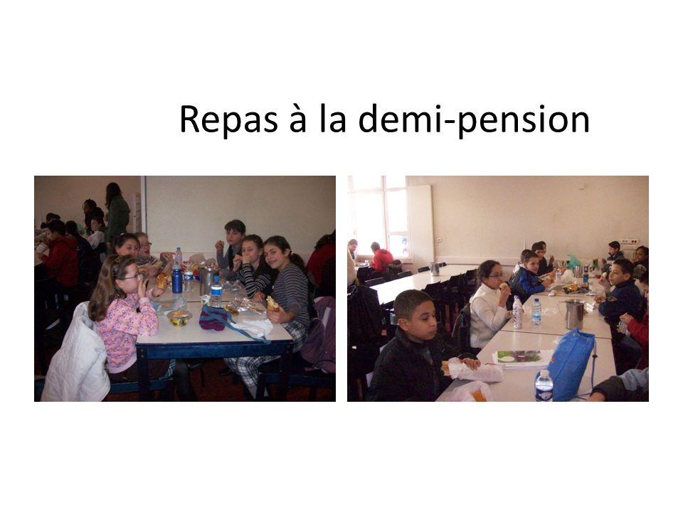 Repas à la demi-pension