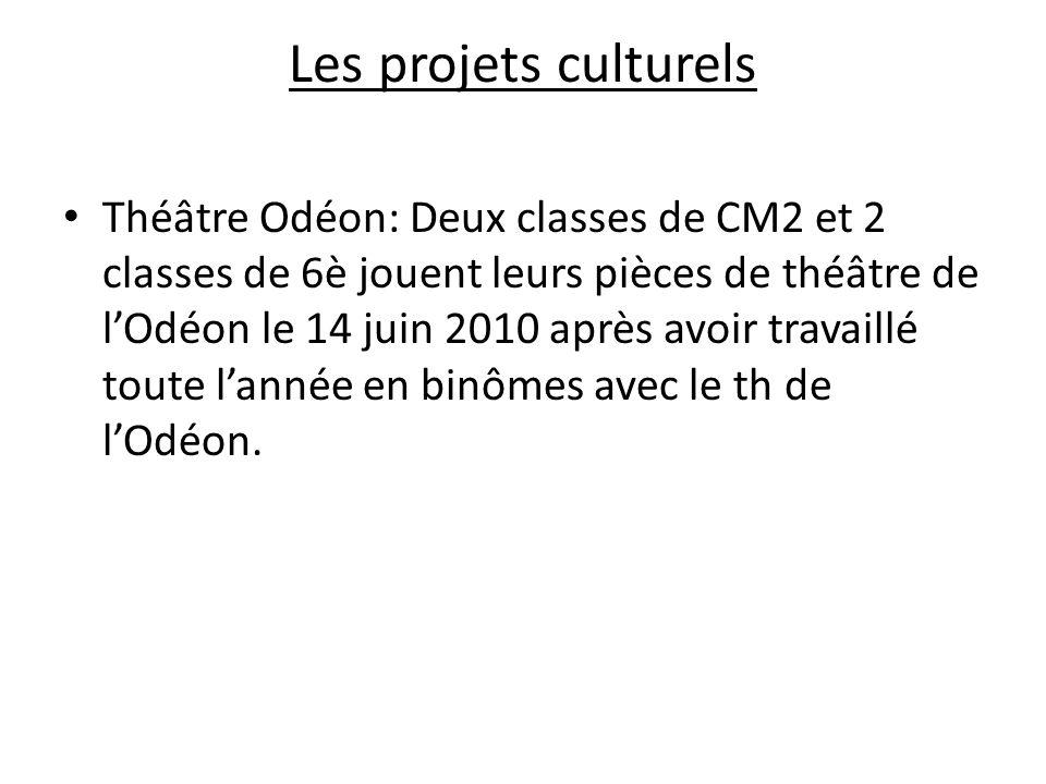 Les projets culturels Théâtre Odéon: Deux classes de CM2 et 2 classes de 6è jouent leurs pièces de théâtre de lOdéon le 14 juin 2010 après avoir trava