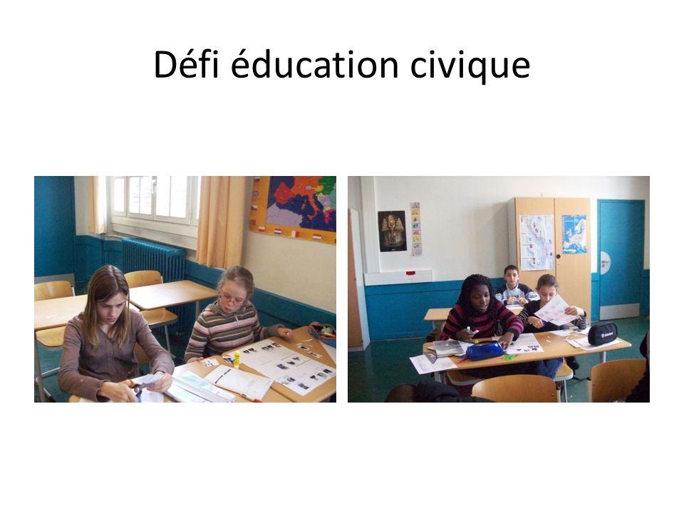 Défi éducation civique