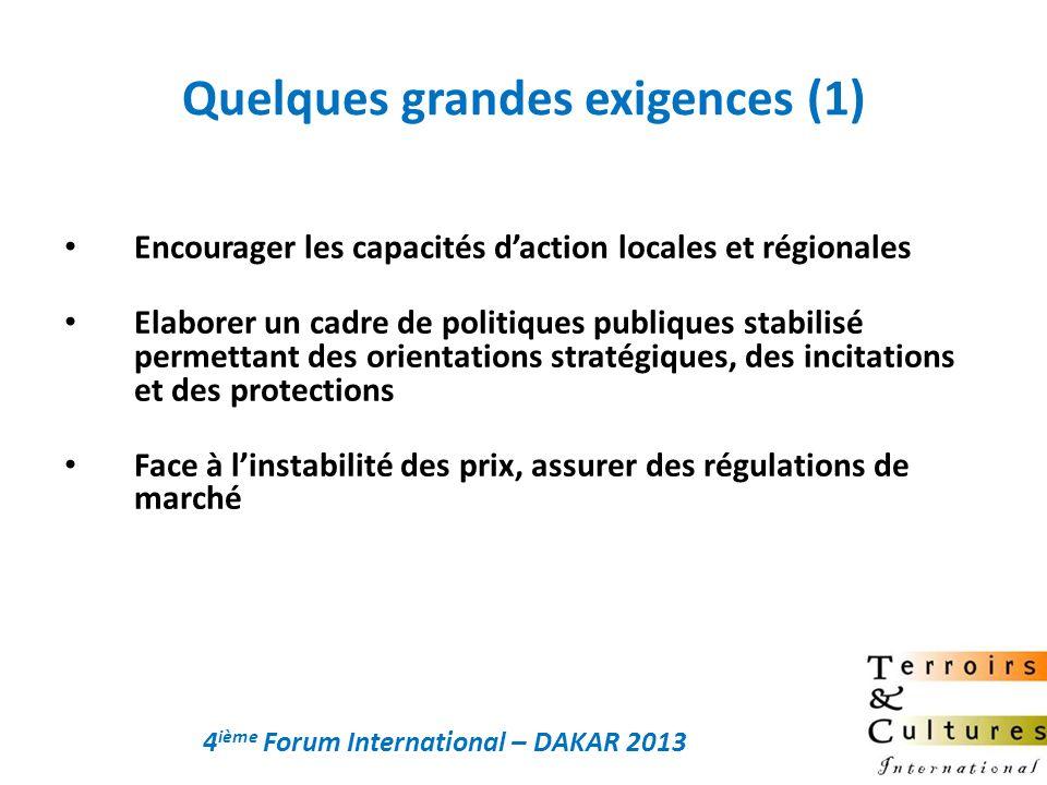 Encourager les capacités daction locales et régionales Elaborer un cadre de politiques publiques stabilisé permettant des orientations stratégiques, d