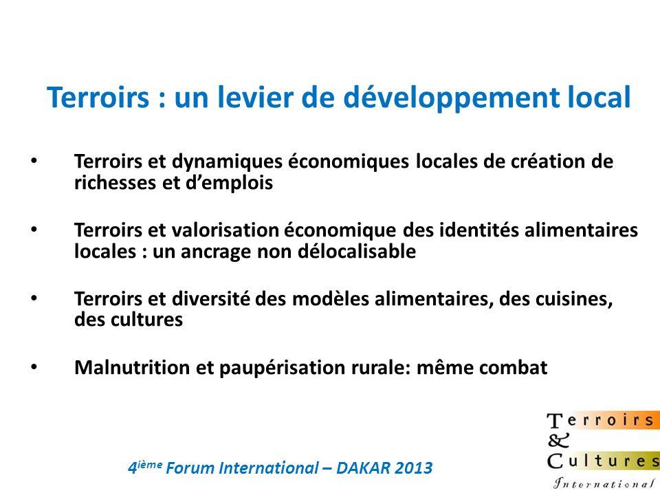 Terroirs et dynamiques économiques locales de création de richesses et demplois Terroirs et valorisation économique des identités alimentaires locales