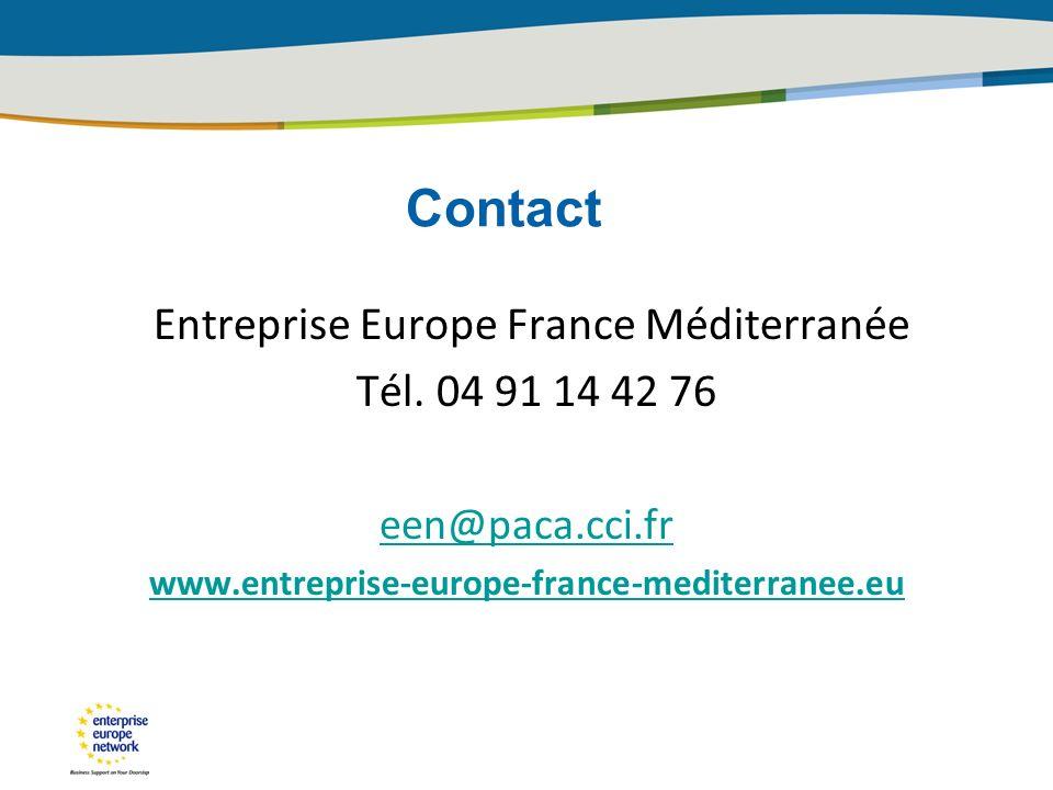 Contact Entreprise Europe France Méditerranée Tél.