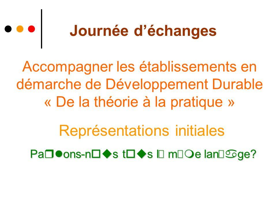 20 Juin 2008Journée d échanges Accompagnement des E3D Différents établissements à accompagner… Ecoles Collèges Lycées Centre de loisirs Collectivités …