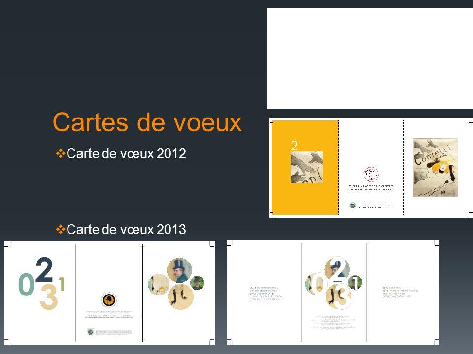 Cartes de voeux Carte de vœux 2012 Carte de vœux 2013