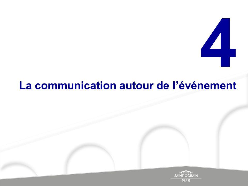 La communication autour de lévénement 4