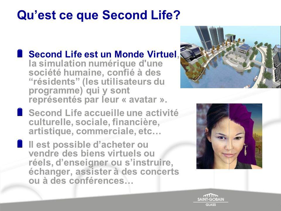 Second Life est un Monde Virtuel, la simulation numérique d'une société humaine, confié à des résidents (les utilisateurs du programme) qui y sont rep