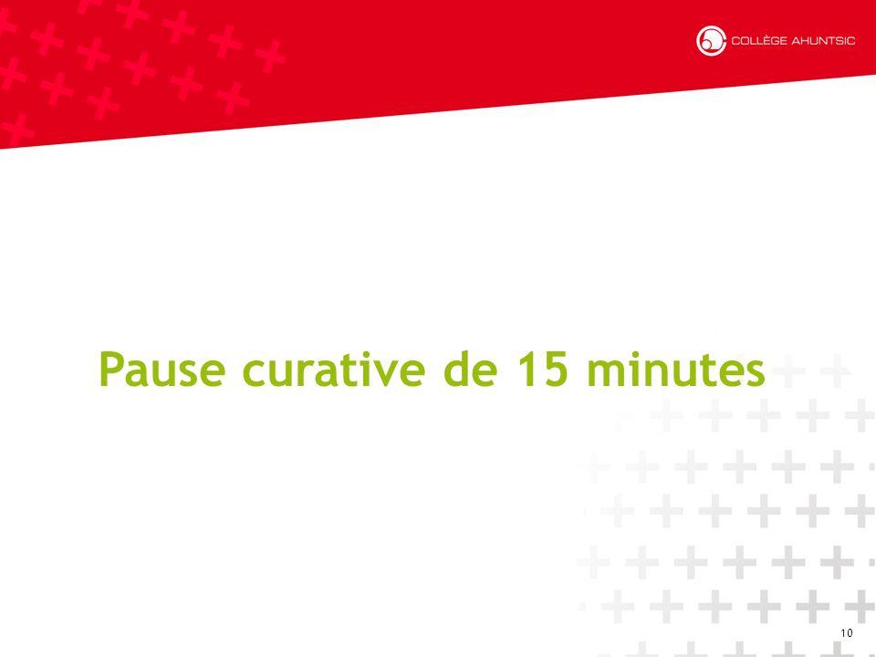 10 Pause curative de 15 minutes