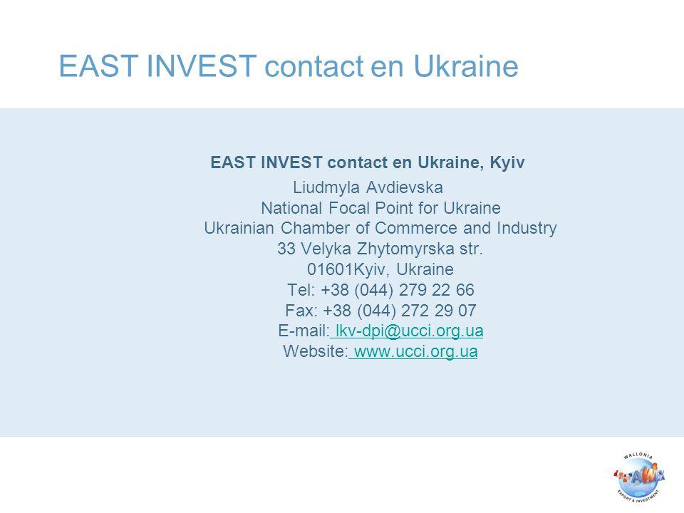 Contact AWEX EU PROJET UKRAINE Milena GVOZDEN Attachée AWEX EU BUREAU Représentation permanente de la Belgique auprès de l Union Européenne 61, 63 Rue de la Loi 1040 Bruxelles Belgique tel: + 32 2 233 03 95 fax: + 32 2 280 12 73 mob: + 32 484 59 06 06 Milena.gvozden@diplobel.fed.be http://www.awex.be