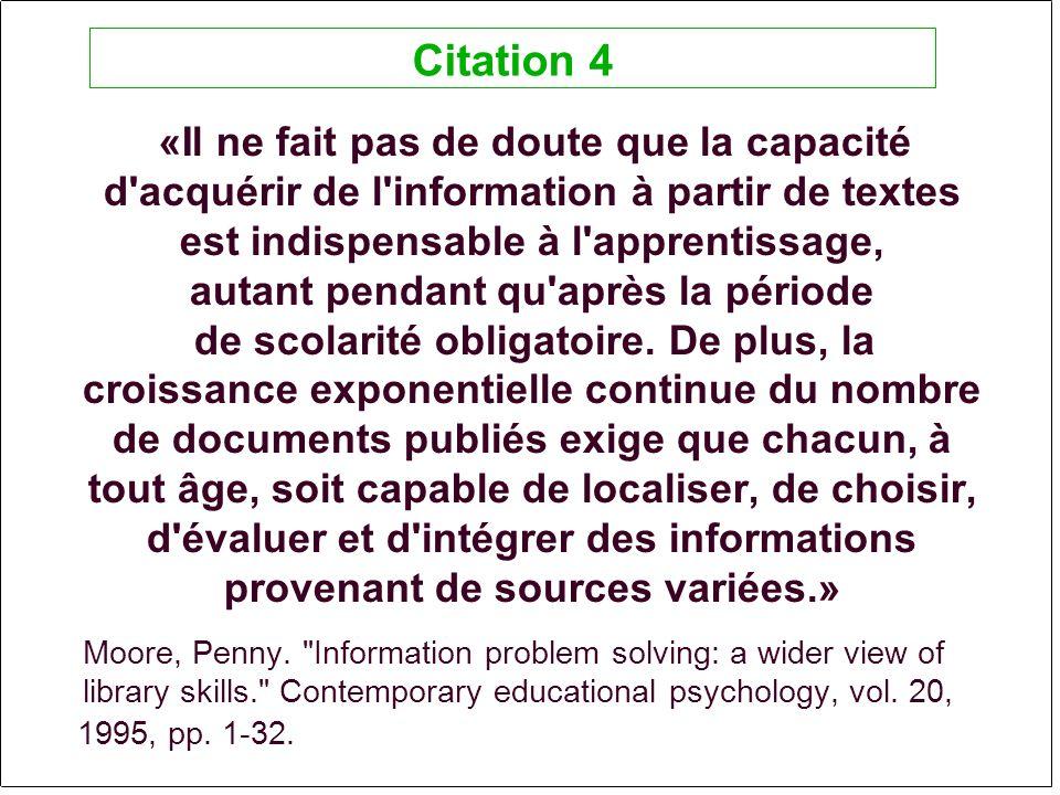 «Il ne fait pas de doute que la capacité d acquérir de l information à partir de textes est indispensable à l apprentissage, autant pendant qu après la période de scolarité obligatoire.