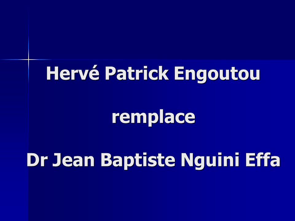 Hervé Patrick Engoutou remplace Dr Jean Baptiste Nguini Effa
