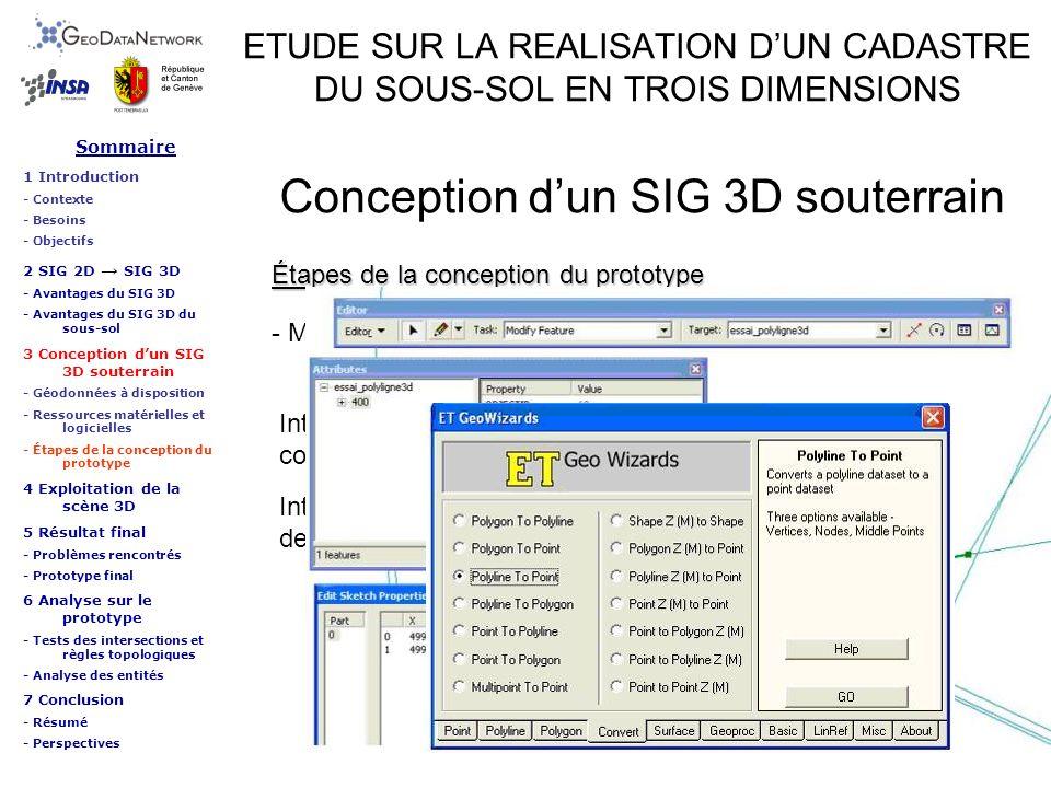 Intégration semi-automatique des altitudes aux extrémités des collecteurs par lapplicatif ET GeoWizards 9.6. ETUDE SUR LA REALISATION DUN CADASTRE DU