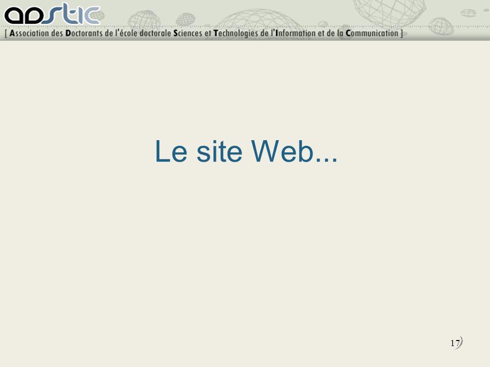 17 Le site Web...