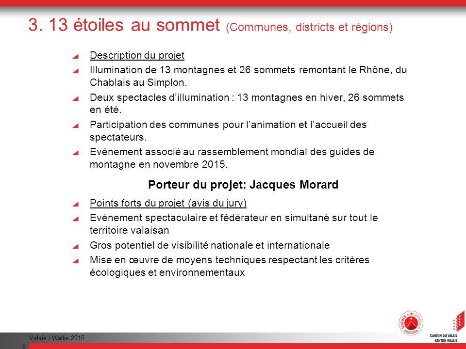 Valais / Wallis 2015 20 Remise des distinctions Projets-étoiles