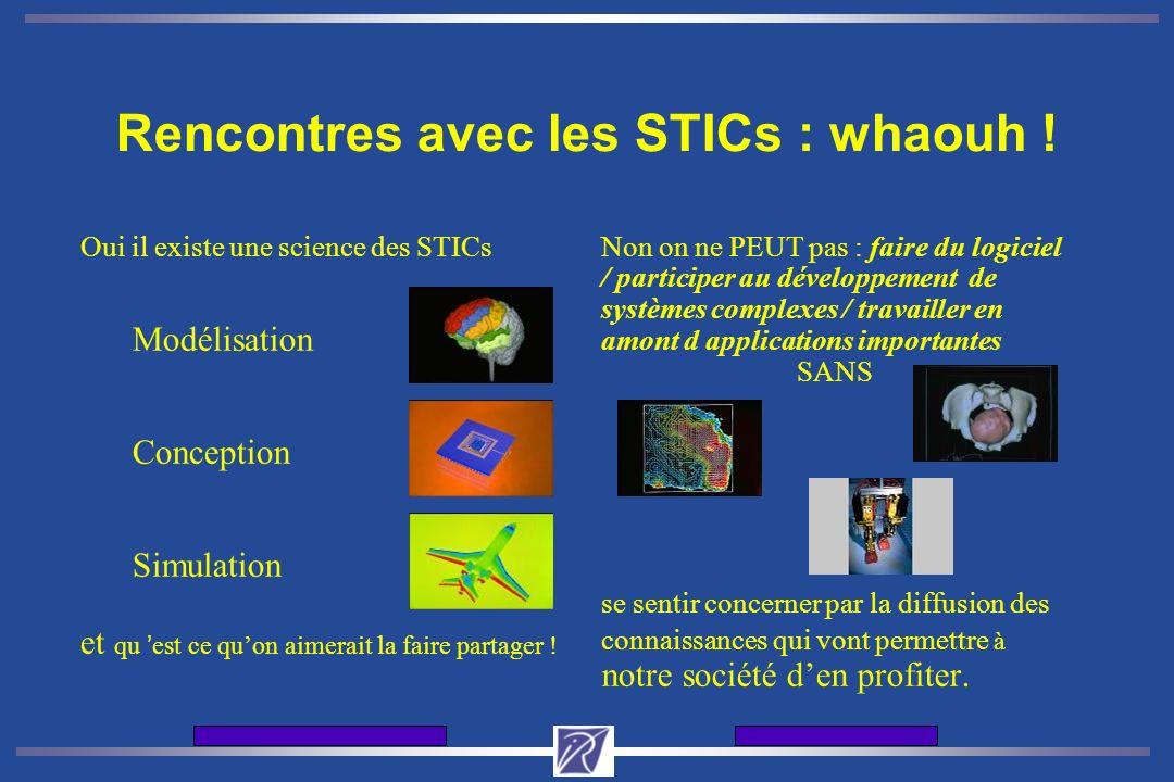 Journes d'accueil de l'INRIA12 et 13 dcembre 2001 Rencontres avec les STICs : whaouh ! Oui il existe une science des STICs Modélisation Conception Sim