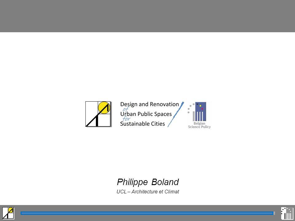 Philippe Boland UCL – Architecture et Climat Modification de l ensoleillement Modification de l ensoleillement